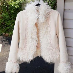 Bebe Faux Fur Coat